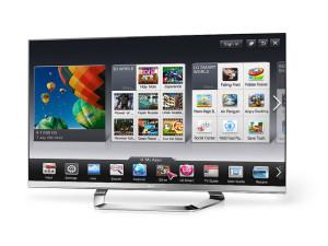 Fehér LG televízió